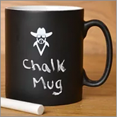 Promotional chalk mugs - interactive giveaways for every marketing budget