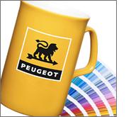 Extensive printing and branding options on all printed china mugs