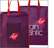 Printed foldable shopping bags are incredibly cost-effective promotional giveaways