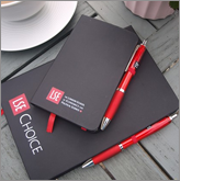 Attract new clients with printed notebooks and pens!