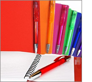 Notebooks and pens offer great potential for all budgets
