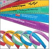 Plastic rulers have a practical use both in the office and educational environments