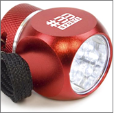 Use branded torches to light-up your logo!