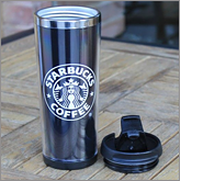 Vast array of printing and branding options available on travel mugs