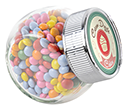Mini Side Glass Sweet Jars - Coated Chocolate Drops  by Gopromotional - we get your brand noticed!