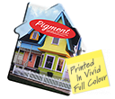 ColourBrite House Shaped Mint Cards  by Gopromotional - we get your brand noticed!
