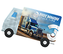 ColourBrite Lorry Shaped Mint Cards  by Gopromotional - we get your brand noticed!