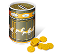 Christmas Carousel Money Box Tins - Chocolate Coins  by Gopromotional - we get your brand noticed!