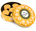 Christmas Gold Share Tins - All Butter Shortbread Biscuits  by Gopromotional - we get your brand noticed!