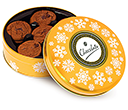 Christmas Gold Share Tins - Belgian Chocolate Cookies  by Gopromotional - we get your brand noticed!