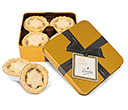 Christmas Gold Treat Tins - Mince Pies  by Gopromotional - we get your brand noticed!