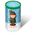 Christmas Mini Sweet Tubes - Elf Gourmet Jelly Beans  by Gopromotional - we get your brand noticed!