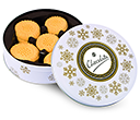 Christmas Snowflake Share Tins - All Butter Shortbread Biscuits  by Gopromotional - we get your brand noticed!