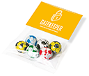 Info Sweet Cards - Chocolate Footballs  by Gopromotional - we get your brand noticed!