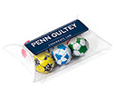 Large Sweet Pouches - Foil Wrapped Chocolate Footballs  by Gopromotional - we get your brand noticed!