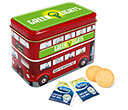 London Bus Tins - Tea & Biscuits  by Gopromotional - we get your brand noticed!