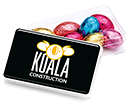 Maxi Rectangular Sweet Pots - Foil Wrapped Chocolate Eggs  by Gopromotional - we get your brand noticed!
