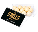 Maxi Rectangular Sweet Pots - White Chocolate Malt Balls  by Gopromotional - we get your brand noticed!