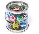 Mini Buckets - Foil Wrapped Chocolate Footballs  by Gopromotional - we get your brand noticed!