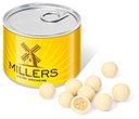 Mini Ring Pull Sweet Tins - White Chocolate Malt Balls  by Gopromotional - we get your brand noticed!