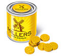 Small Sweet Paint Tins - Chocolate Coins  by Gopromotional - we get your brand noticed!