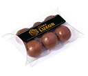 Small Sweet Pouches - Milk Chocolate Malt Balls  by Gopromotional - we get your brand noticed!