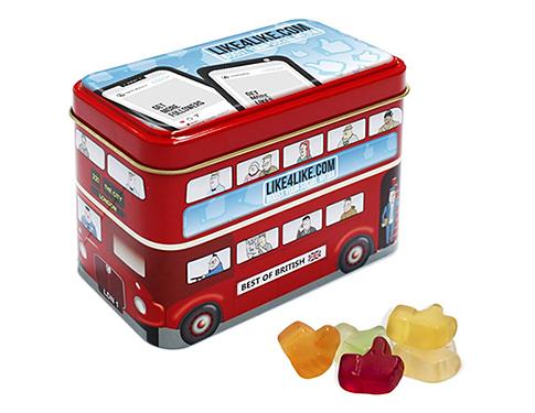 London Bus Sweet Tin - Kalfany Fruit Gums