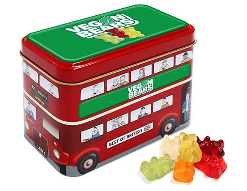 London Bus Sweet Tin - Kalfany Vegan Bears