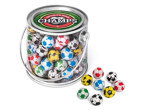 Midi Sweet Buckets - Chocolate Footballs
