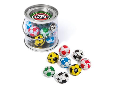 Mini Sweet Buckets - Chocolate Footballs