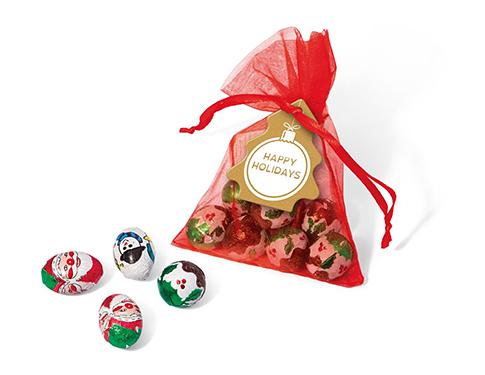 Organza Bags - Christmas Chocolate Mix
