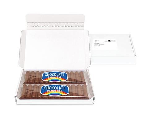 Mini Postal Box - 12 Baton Chocolate Bars
