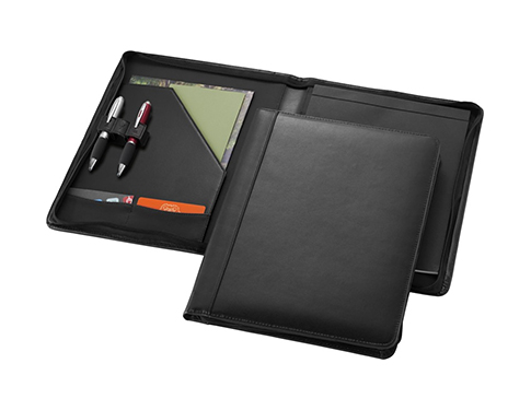 Boston Zipped Corporate Leather Folder
