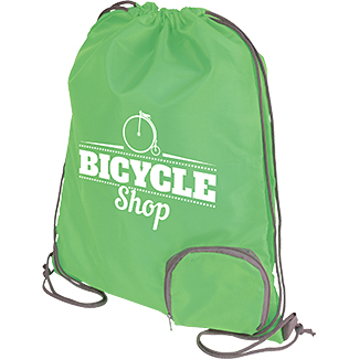 Marathon Foldable Drawstring Bag