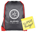 Essential Black Budget Drawstring Bags  by Gopromotional - we get your brand noticed!
