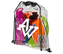 Stadium Clear PVC Drawstring Bags  by Gopromotional - we get your brand noticed!