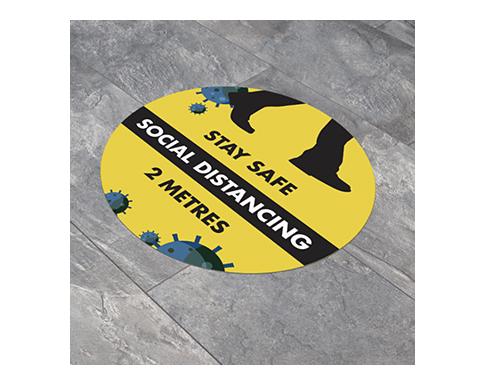 Round Anti-Slip Social Distancing Floor Stickers - 300mm