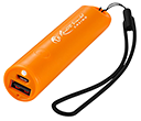 Rainbow Power Banks With LED Torch- 2200mAh  by Gopromotional - we get your brand noticed!