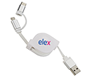 Olympic 3-in-1 USB Charging Cables  by Gopromotional - we get your brand noticed!