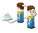 Power Man Power Banks - 2500mAh  by Gopromotional - we get your brand noticed!