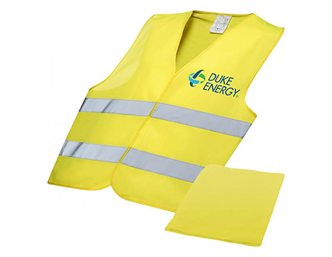 Promotional Foreman Professional Safety Vest In Pouch Printed With Your Logo At Gopromotional