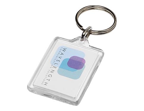 Midi Compact Acrylic Plastic Keyring