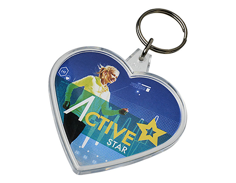 Heart Shaped Plastic Keyring