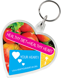 Heart Shaped Acrylic Plastic Keyrings