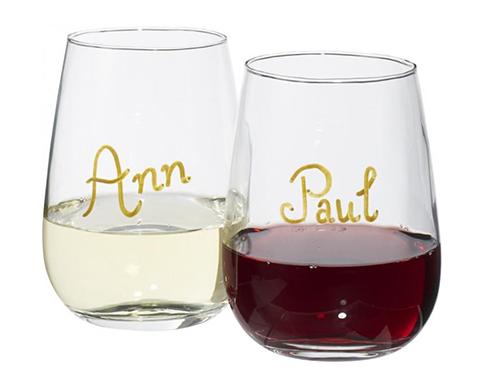 Antares Wine Glass Writing Set
