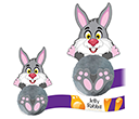 Card Head Rabbit Logobugs  by Gopromotional - we get your brand noticed!
