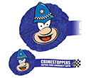 Policeman Mophead Card Face Logobugs  by Gopromotional - we get your brand noticed!