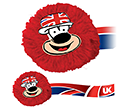 Union Jack Mophead Card Face Logobugs  by Gopromotional - we get your brand noticed!