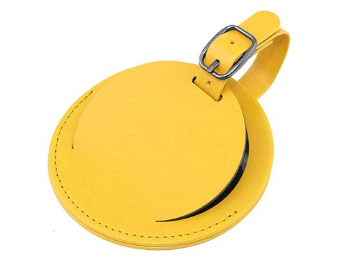 Voyager Round PU Security Luggage Tag