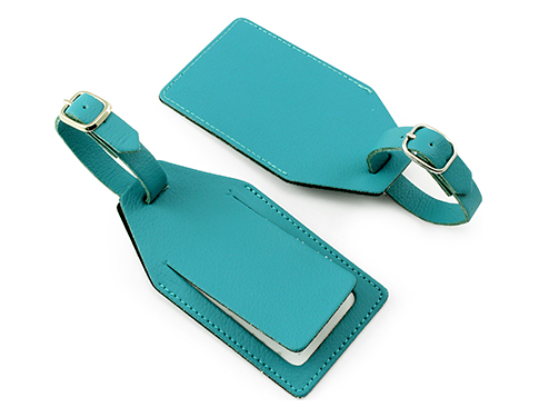 Edge Recycled Leather Luggage Tag
